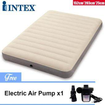 Harga INTEX (64703) 1.52 Meter Dura-Beam Series Deluxe Queen Size High Inflatable Airbed Mattress [NP138] - Premium