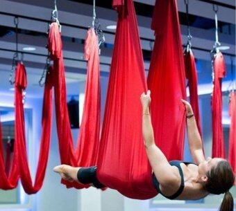 Harga Yoga Red Swing Fitness Aerial Yoga Slings Anti-gravity Hammock Yoga Belt Straps