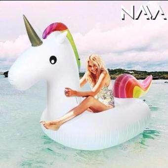 Harga NaVa Fashion 270CM Large Inflatable Rainbow Unicorn Swimming Pool Fun Float