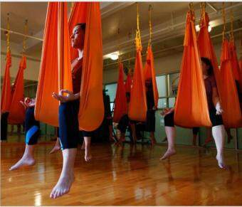 Harga Yoga Orange Swing Fitness Aerial Yoga Slings Anti-gravity Hammock Yoga Belt Straps