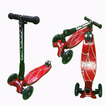 Harga Foldable Scooter Height Adjustable with LED Light up Wheels