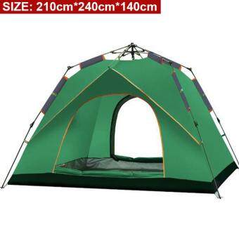 Harga BartoniseN (210cm*240cm*140cm) Large 4 Person Family Size Automatic Instant Tent For Outdoor Camping Hiking With Carry Bag [NP106]