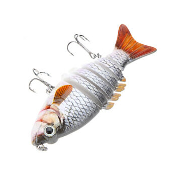 "Harga LIXADA 10cm / 4"" 21g Multi Jointed Fishing Hard Lure Bait Swimbait Life-like with Treble Hooks"
