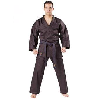 Harga Maddockdo Basic Karate Kendo Martial Arts Black Uniform Baju Silat Size:3 170CM