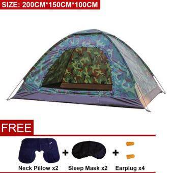 Harga BartoniseN (200cm*150cm*100cm) Family Outdoor Camping Hiking Portable Second Quick Instant Automatic Tent [NP42] - Premium