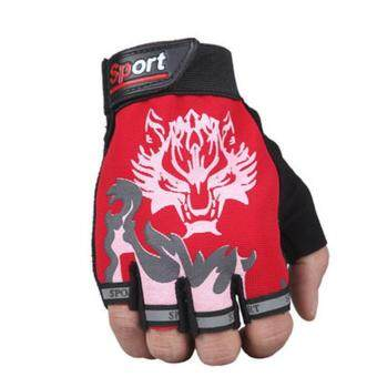 Harga Gym Gloves for Men Protect Your Hands & Improve Your Grip -Weightlifting Gloves - Easy To Pull on & Off Red