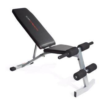 Harga GYM FITNESS bench heavy duty 300lbs support (GREY)