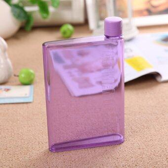 Harga A5 Notebook - Flat - Transparent - Reusable Plastic Water Bottle - 420ml (Purple)