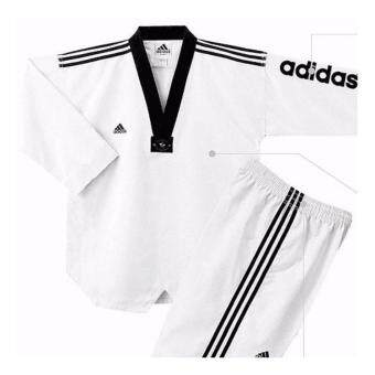 Harga Adidas Taekwondo Karate Silat Kungfu Boxing Protection Black Uniform Size:6 200CM