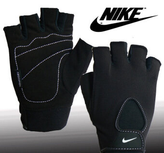 Harga Nike Original Fundamental Training Half Finger Gloves (White Line)