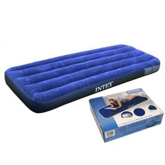 Intex Inflatable Air Bed Mattress Travel Sleeping Bag Outdoor Indoor - Single + Electric pump