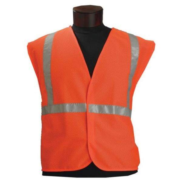 Jackson Safety ANSI Class 2 Mesh Standard Style Polyester Safety Vest with Silver Beaded Reflective 5 Point Breakaway - intl