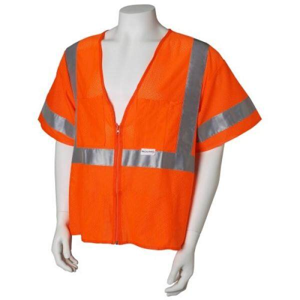 Jackson Safety ANSI Class 3 Mesh Standard Style Polyester Safety Vest with Silver Reflective - intl