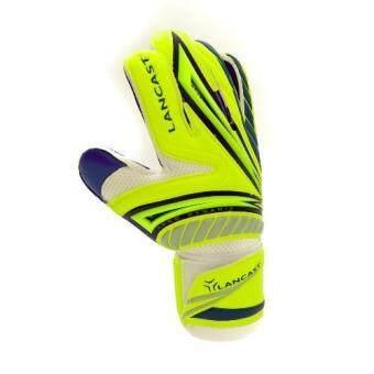 Lancast Goal Keeper Gloves - AERODYNAMIC (YELLOW/Blue (Palm:D.Blue) Size 9 - 2