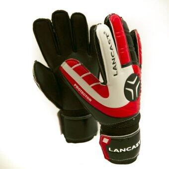 Lancast Goal Keeper Gloves - PROTECTOR (RED/BLACK/White) Size 9