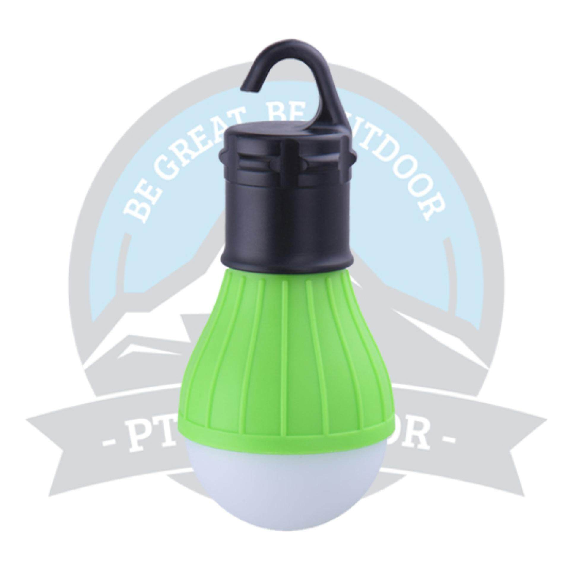 [READY STOCK] LED Tent Light Hanging Lantern Handy Warm Lamp For Hiking, Camping Or Outdoor Activities - GREEN