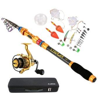 Lixada 2.4m/7.9ft Portable Lure Rod Set Spinning Rod and Fishing Reel Combos