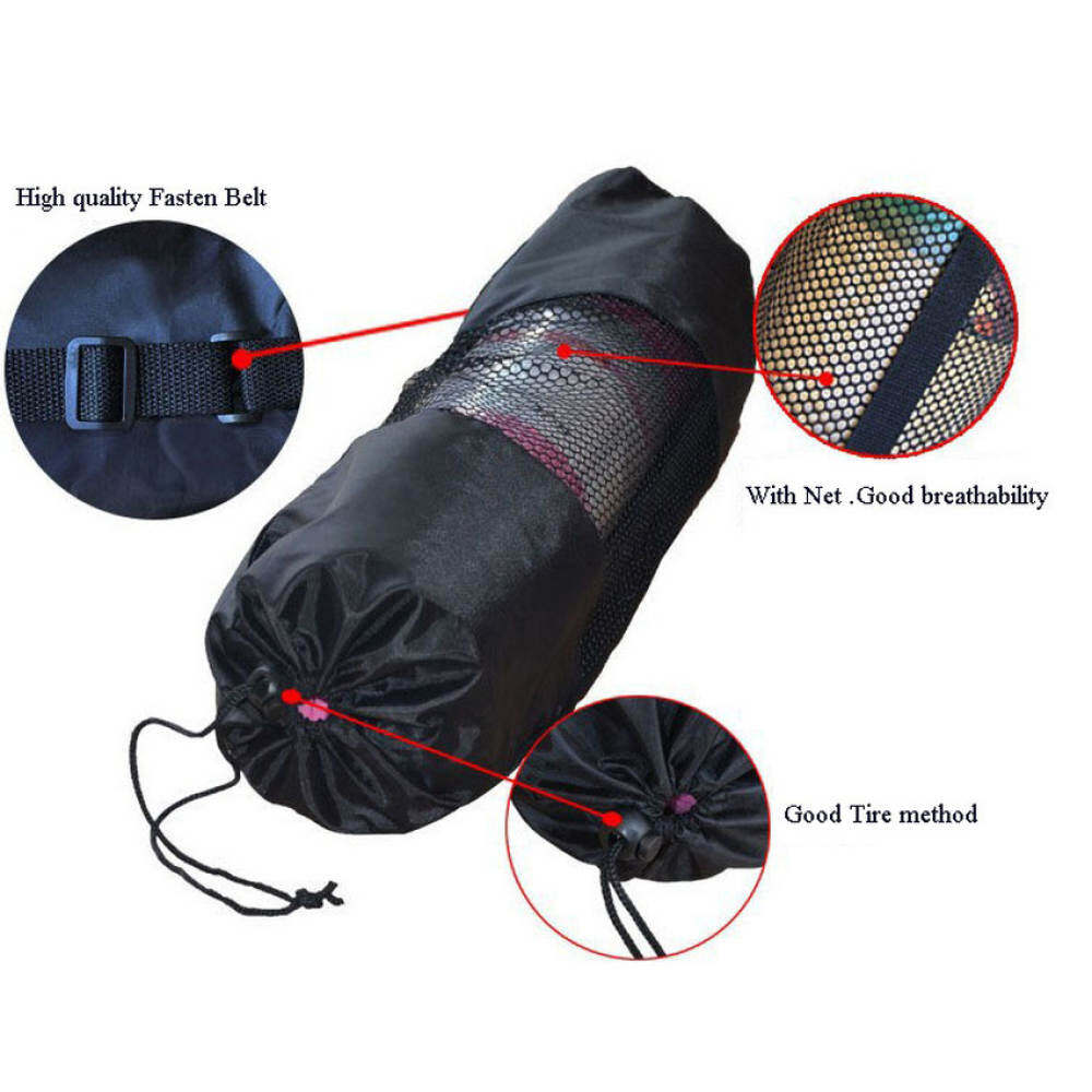 Medium and small number of black yoga mat special mesh bag outdoor umbrella .