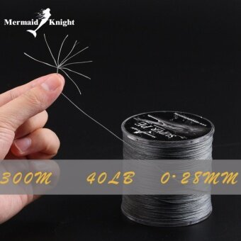 MermaidKnight Super PE 300M Fishing Line 8 PE Braided Wire Multifilament Line Lure Braided Cord For Fishing Linha De Pescar Ocean Boat And Beach Fishing 0.28mm 40LB