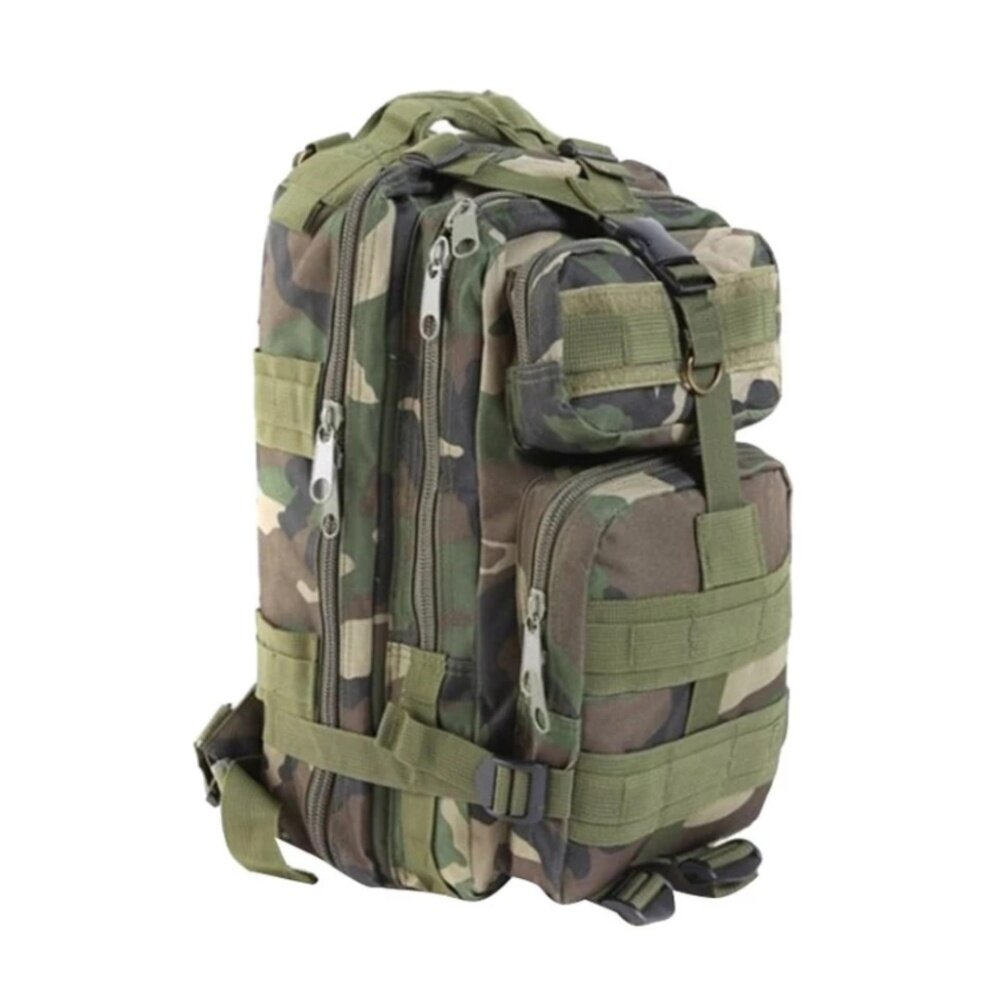 Military 3P Attack Tactical Backpack SWAT Bag Hiking Beg (Woodland camo)