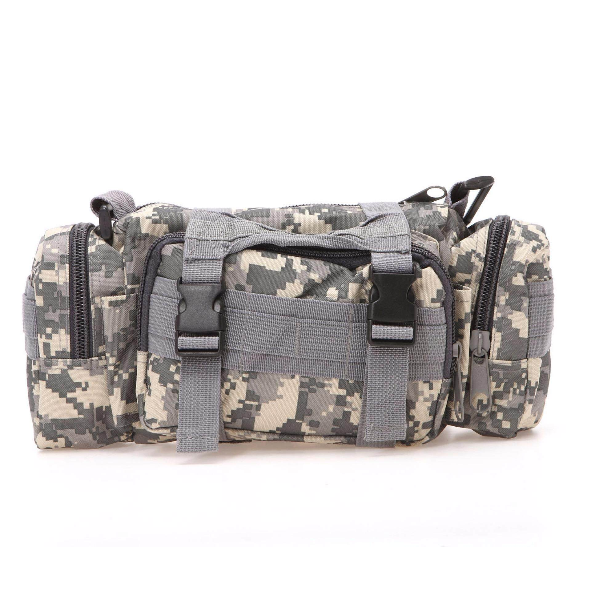 Military Shoulder Waist Pouch Sling Bag Army Cycling Hiking Bag Camouflag