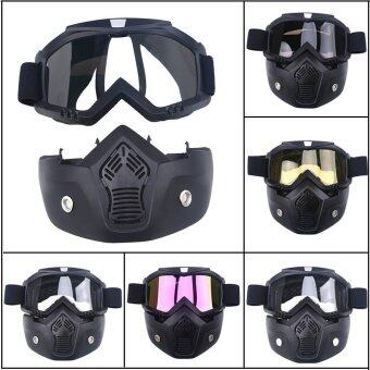 Harga Motocross Goggle Mask MTB Off-Road Dirt Riding Bike ATV GogglesFace Cover