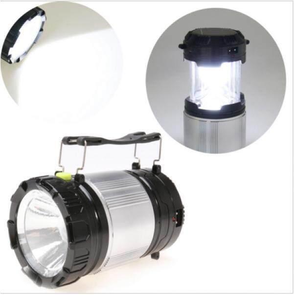 Multifunction Solar Zoom Camping Lamp LED Flashlight