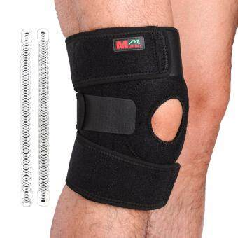 Harga Mumian B01 Adjustable Sports Leg Knee Support Brace Wrap ProtectorPads Sleeve Cap Patella Guard 2 Spring Bars,One Size,Black