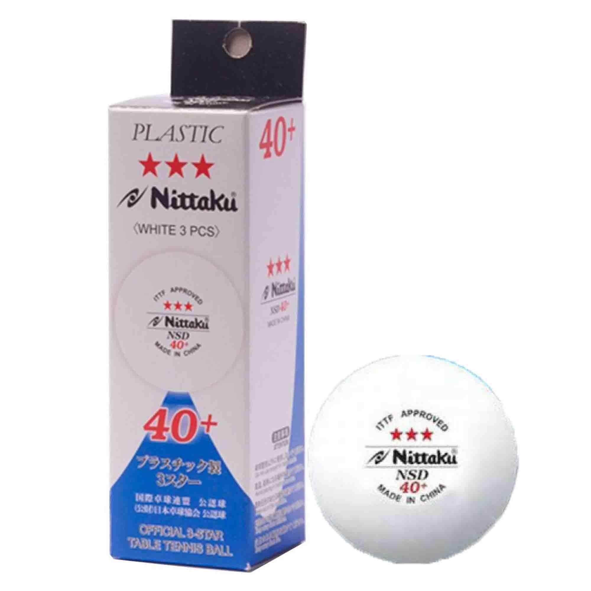Nittaku NSD 40+ Table Tennis Balls 3 Pcs