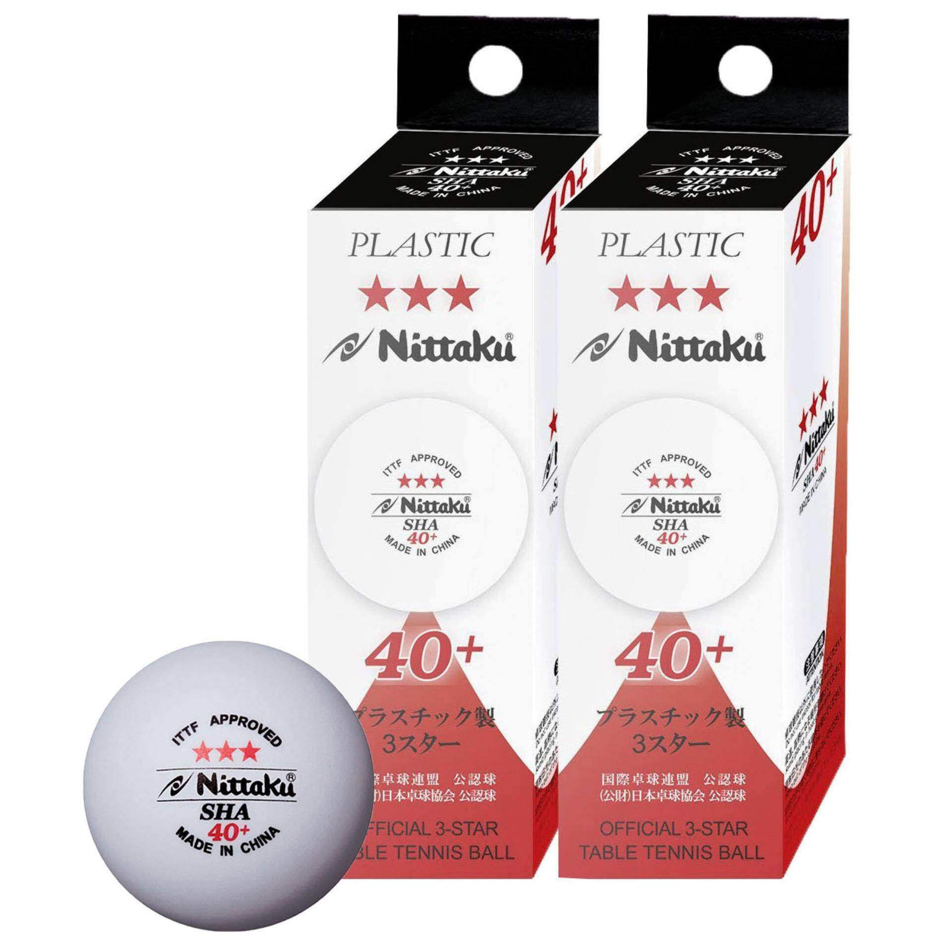 Nittaku SHA 40+ Table Tennis Balls 6 Pcs