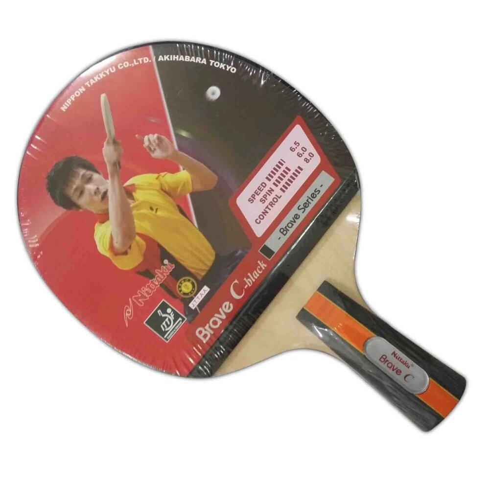 Nittaku Table Tennis Bat Brave C-Black