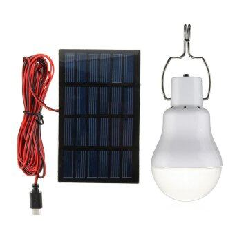 Harga Outdoor Solar Panel Powered LED Bulb Lamp Portable Camp TentFishing Light Hook