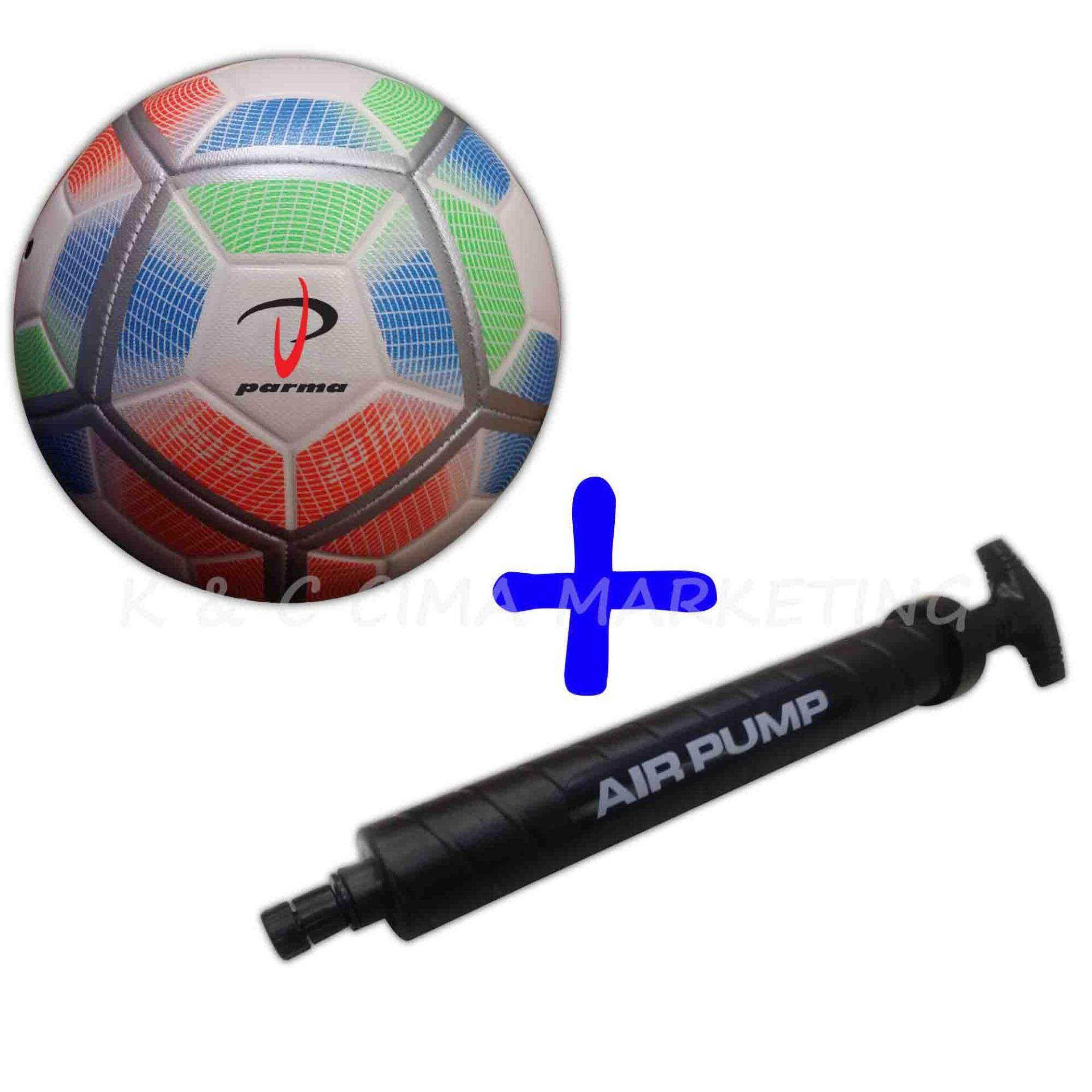 Parma Machine Stitched Football 888 Size 5 With Double Action Hand pump