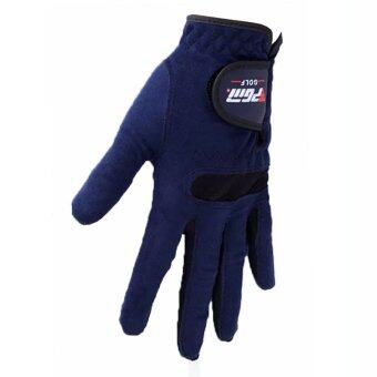 Harga PGM Golf Glove Mens Microfiber Cloth Gloves (blue)