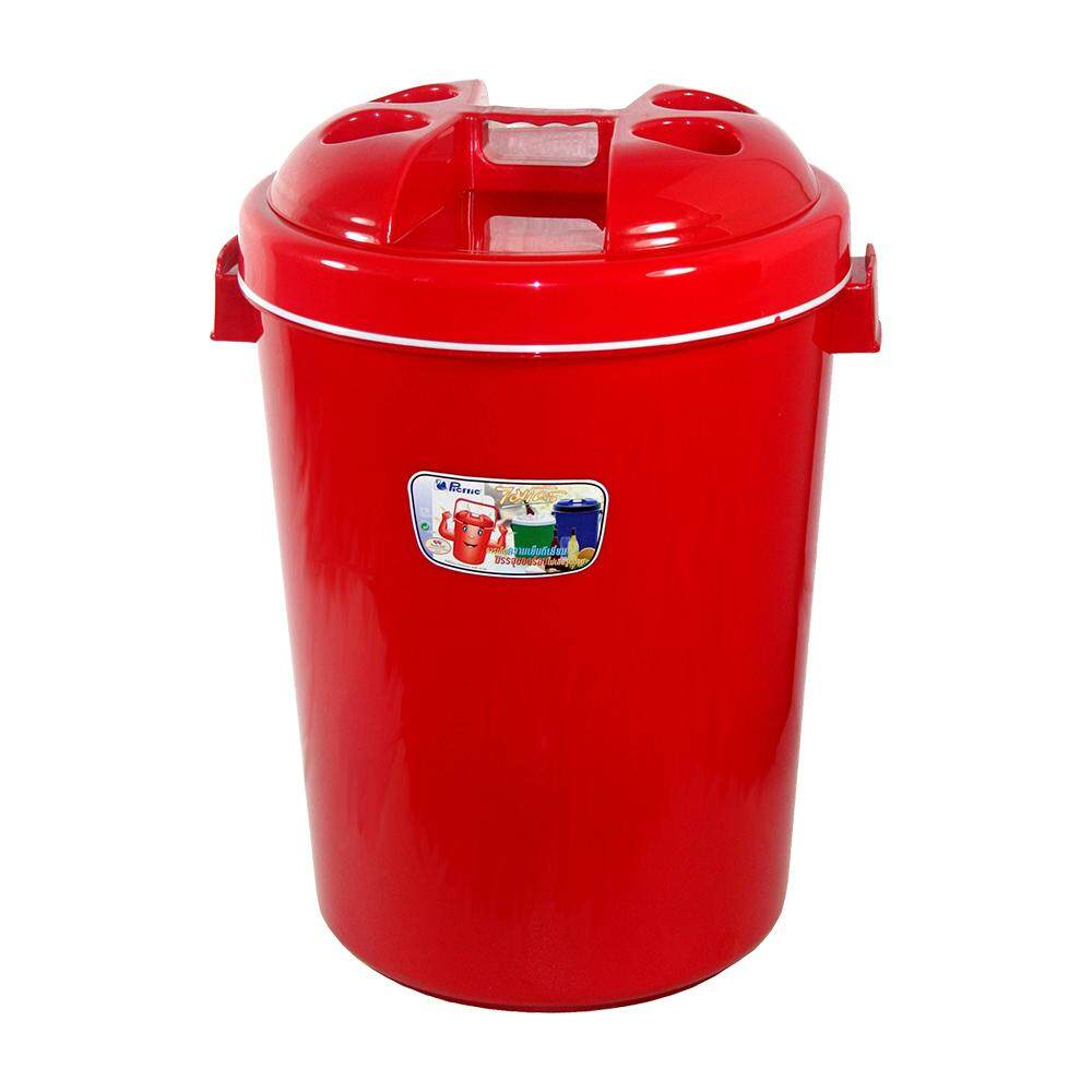 Picnic Insulated Bucket Plastic 27L - Red