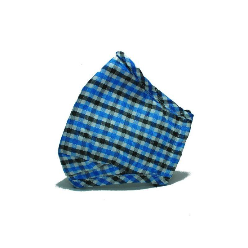 Buy PM2.5 Adult Face Mask with Filters (Checker design) - BLUE Malaysia