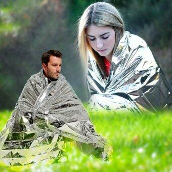 Harga Portable Waterproof Emergency Space Rescue Thermal Mylar Blankets1.4m x 2.1m