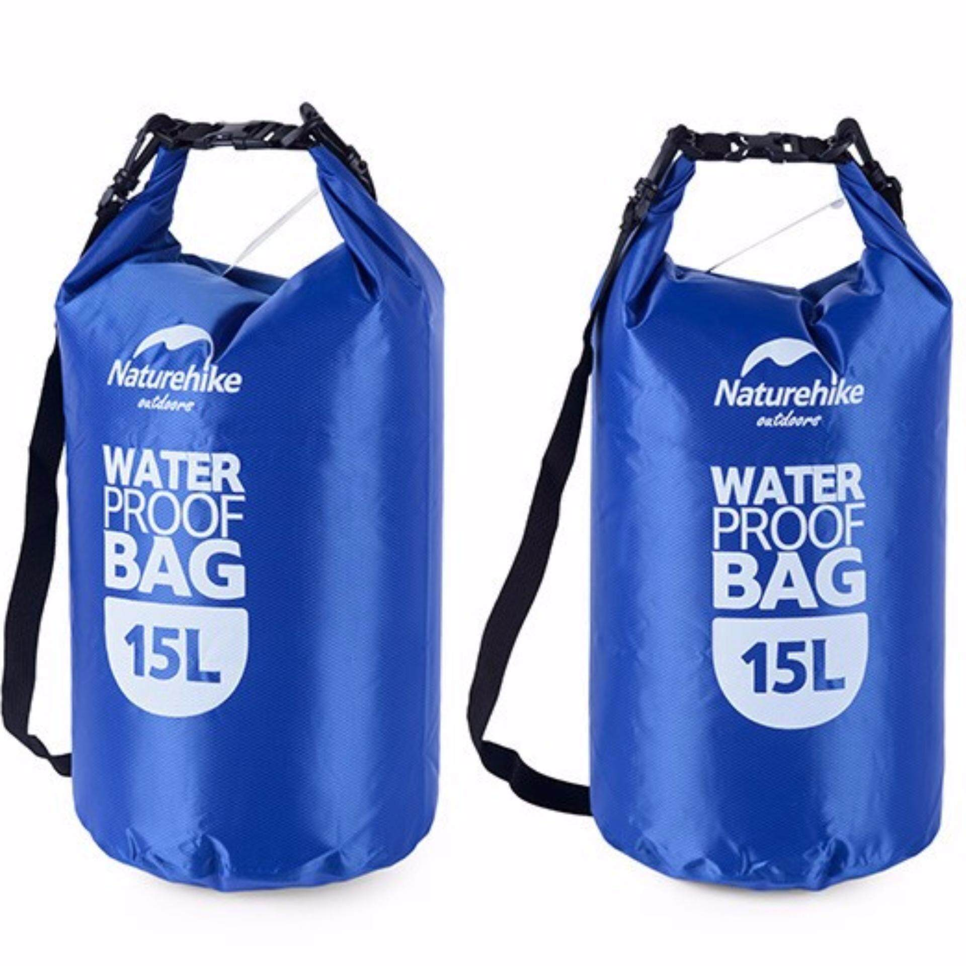 [ Quick Delivery ]  NatureHike Multifunctional Waterproof Dry Bag 15L - Blue