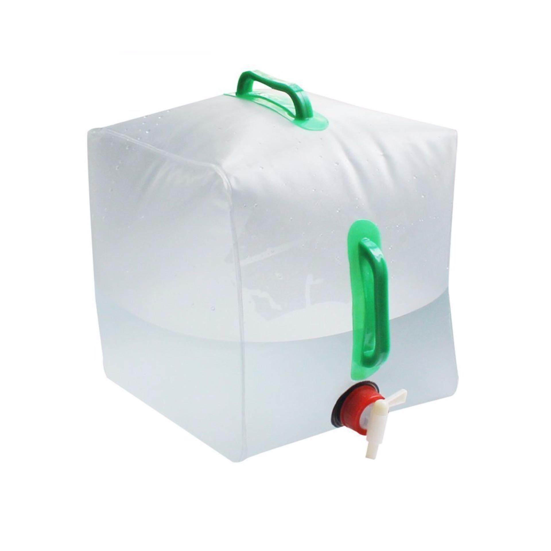 [READY STOCK] 10L Outdoor Camping Hiking Water Bag With Pipe - White