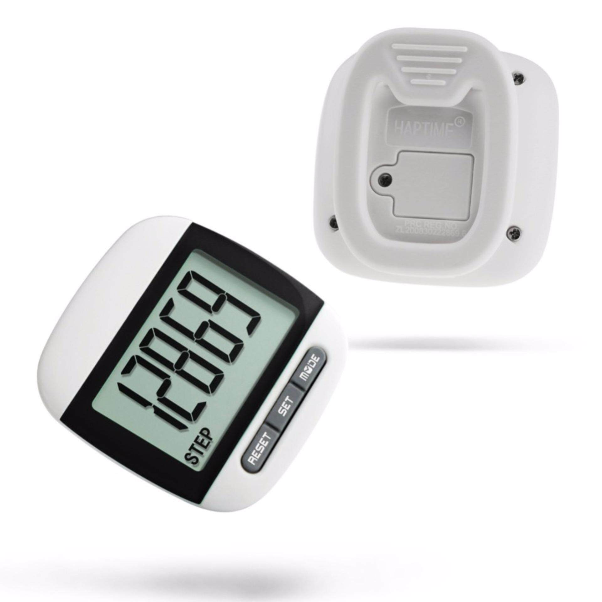 [READY STOCK] 7 in 1 Waterproof Portable Step Movement Calories Counter Multi-Function Digital Pedometer Distance Run Monitor Ultra-light - Black