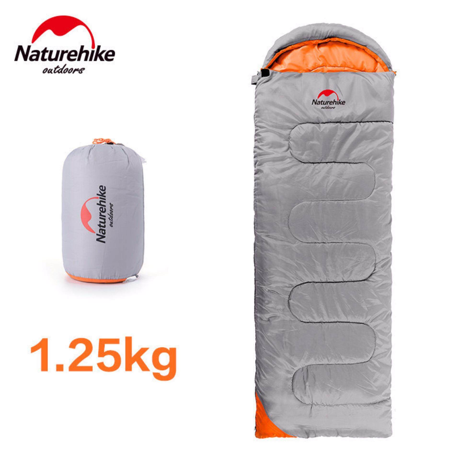 [READY STOCK] NatureHike Extra Long Ultralight Camping Sleeping Bag For Adult Outdoor Spring Autumn Hiking Bag (2.2M x 0.75M) - Silver