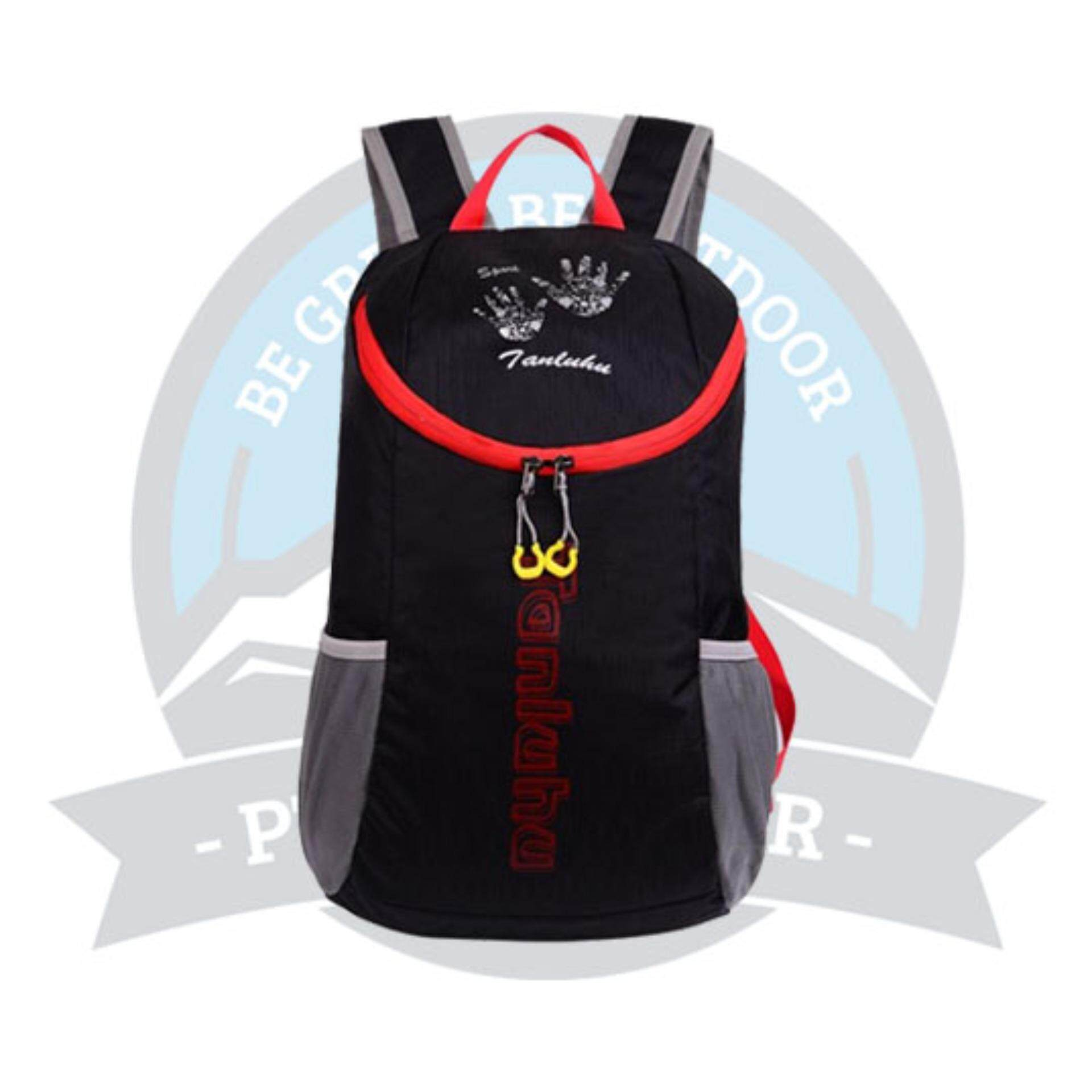 [READY STOCK] Tanluhu 25L Water Resitant Foldable Outdoor Bagpack - Black