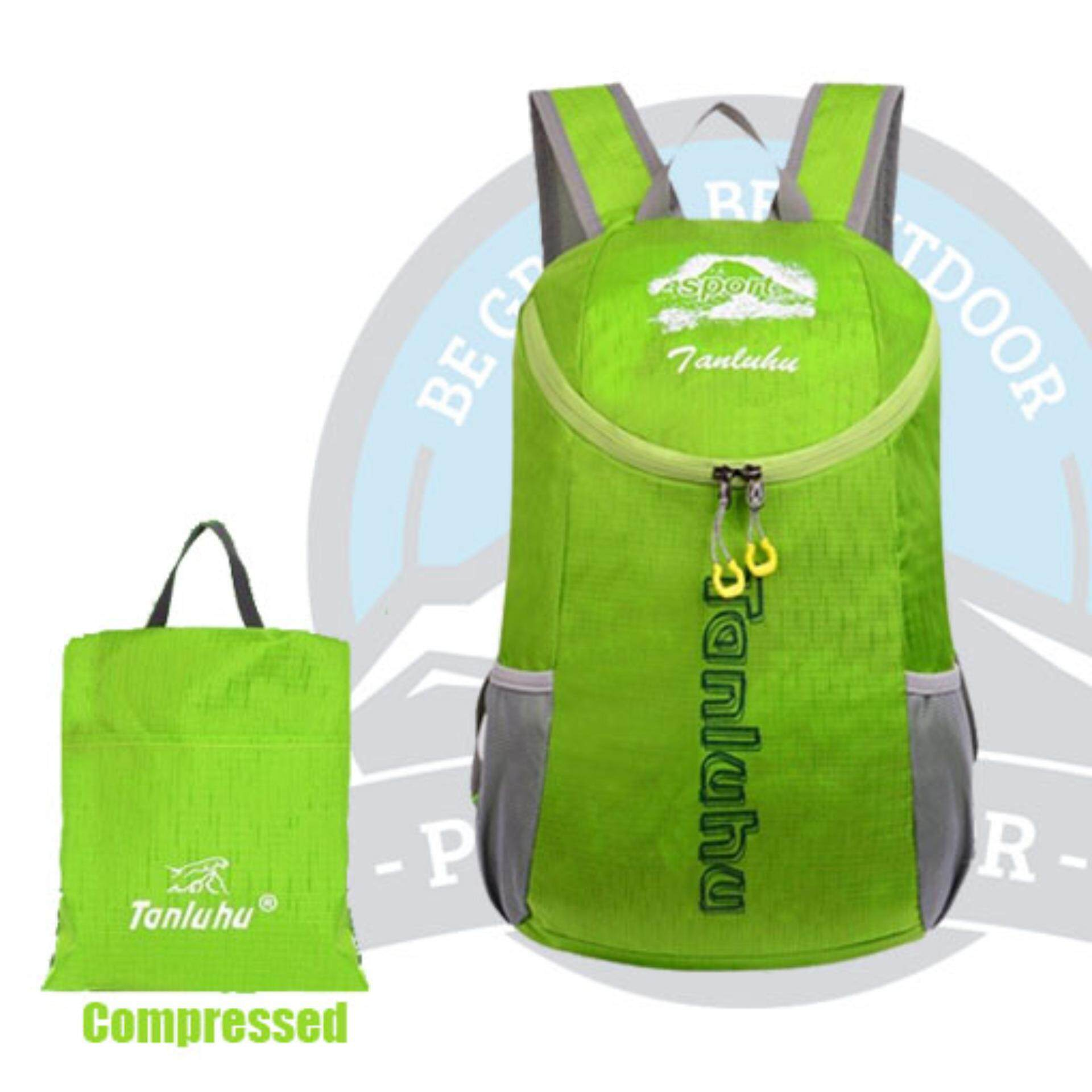 [CLEARANCE SALE] (FREE DELIVERY) Tanluhu 25L Travel Backpack Travel Bag Water Resitant Foldable Outdoor Bagpack - GREEN