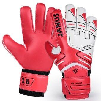 Red Goalkeeper Gloves Finger Protection Soccer Football GoalieGloves Sports Skiing Gloves