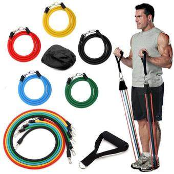 Resistance Bands Muscle Rope Tubes GYM Exercise Set for Yoga ABSWorkout Fitness