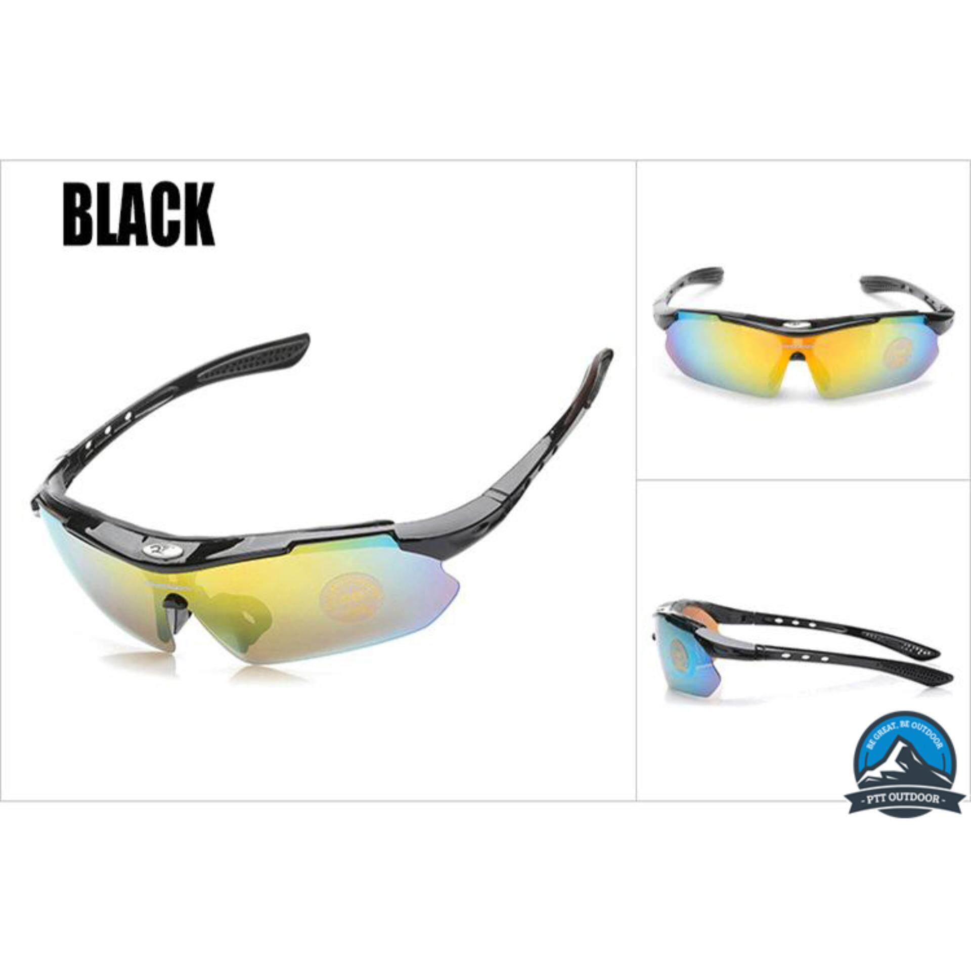 [READY STOCK] ROBESBON POLARIZED SUNGLASSES WITH 5 CHANGEABLE LENSES – BLACK