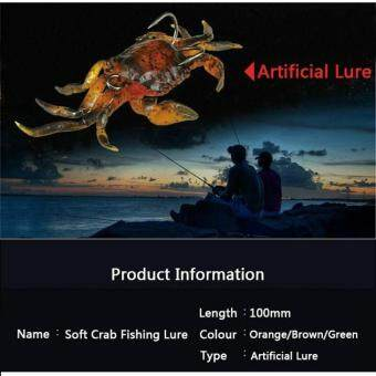 Soft Fishing Lures Artificial Bait Crab with Sharp Hooks, JiggingLure Sea Creature Tackle Fake Bait - 4