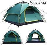 (RAYA 2019) SOKANO 3-4 Persons Waterproof Dome Automatic Instant Rapid Tent Camp Beach Tent for Camping, Hiking and Outing