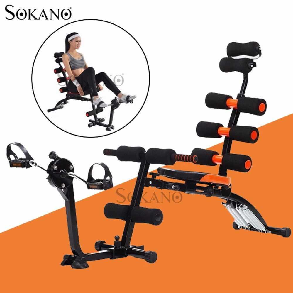 SOKANO 6 PACK CARE Exercise Bench Sit Up Gym Fitness Machine With Exercise Bike Basikal Lanjak