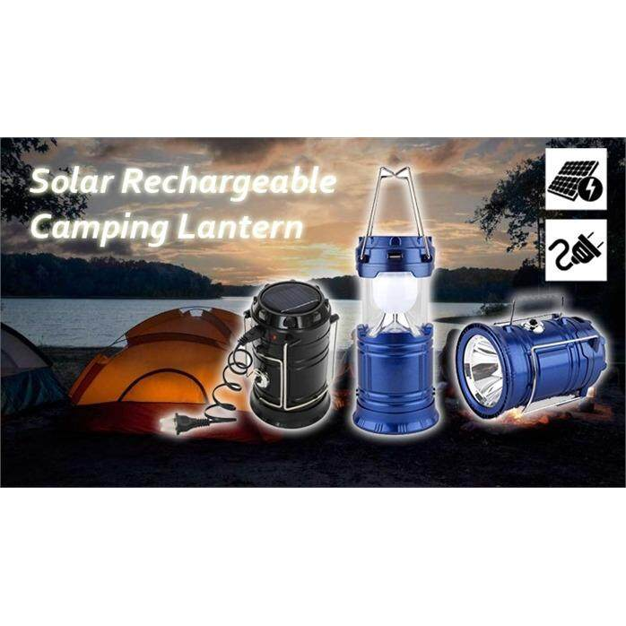 Solar Lantern Outdoor Super Bright Rechargeable Camping Light POWER BANK LED Camping Light SOS Help Brightnessrgency Hurricanes Hiking Hunting Storm